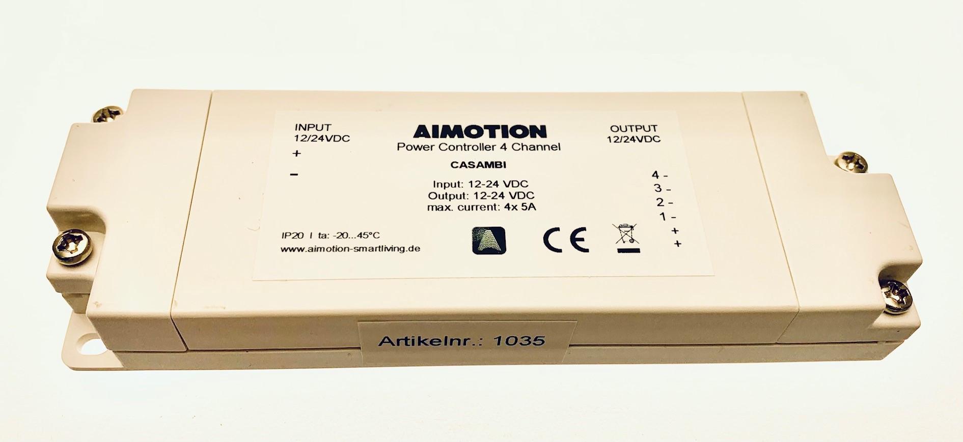 Casambi 12-24V Power Controller 4x5A