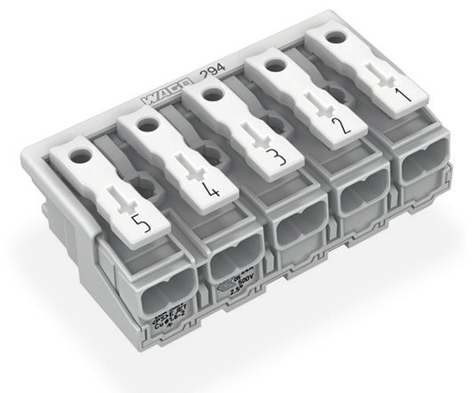 WAGO 5P-Leuchtenanschlussklemme ohne PE-Kontakt 2,5 mm²