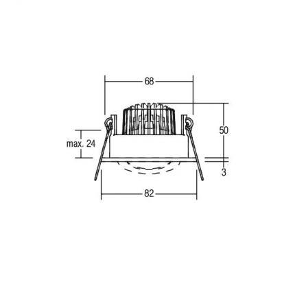 Brumberg LED-Einbaustrahler 6W 230V rund titan-matt