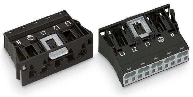 WAGO 5-Snap-In-Stecker 4 mm² schwarz
