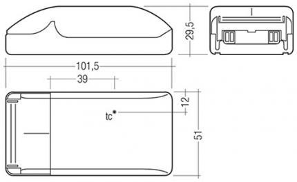 Tridonic LCBI 15W 500mA BASIC PHASE-CUT SR