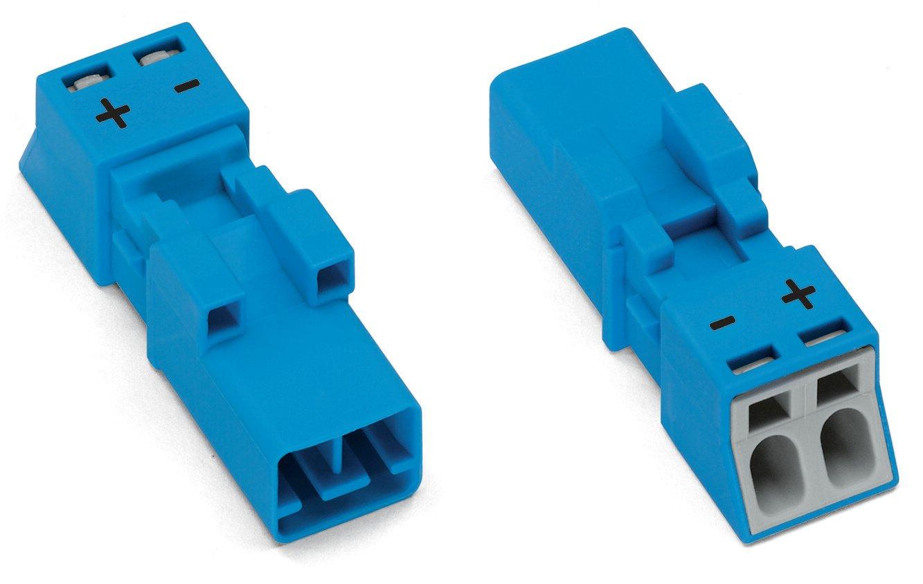 WAGO Stecker 2-polig 1,50 mm² blau