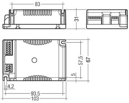 Tridonic PC 1x57/70 TC PRO