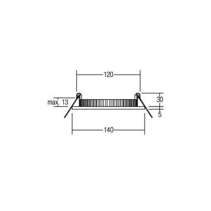 Brumberg LED-Einbau-Panel 12W 24V 2700-5700K silber