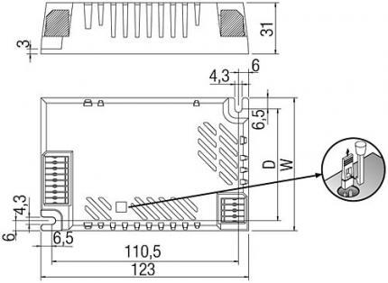 Tridonic PC 1x38-35 HO DD COMBO  220-240V 50/60HZ