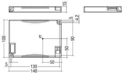 Tridonic LCAI 35W 350mA-900mA ECO C flat