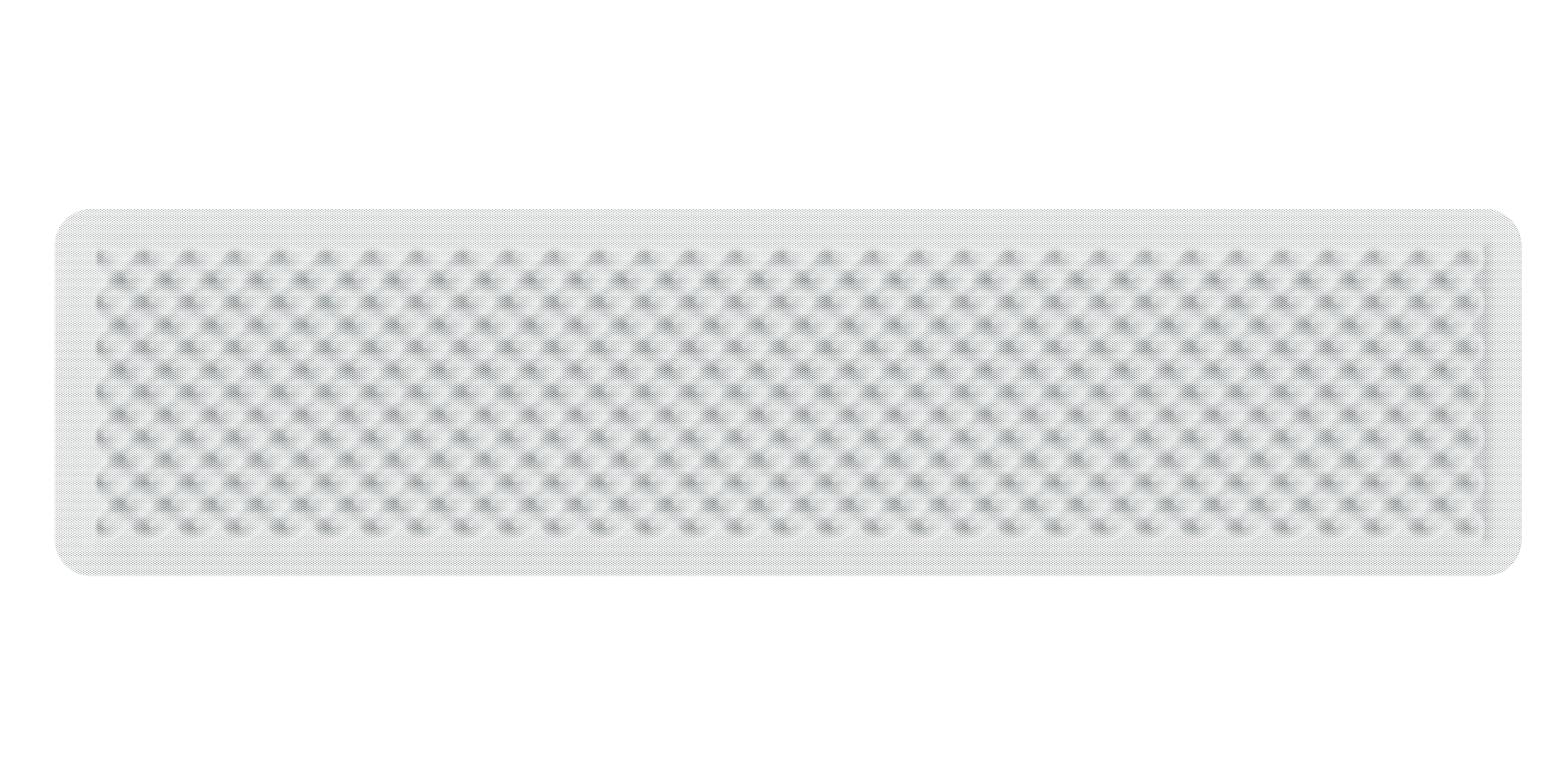 Artemide acoustic panel sound absorbing EGGBOARD WALL SUSP./CEILING ACOUSTIC PANEL 160x40 WHITE