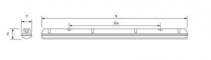 ZALUX LED-Feuchtraumleuchte 49W 6000 Lumen IP66 DUNA FLEX DSTP 1.5 60-840 PC DPC PA ET
