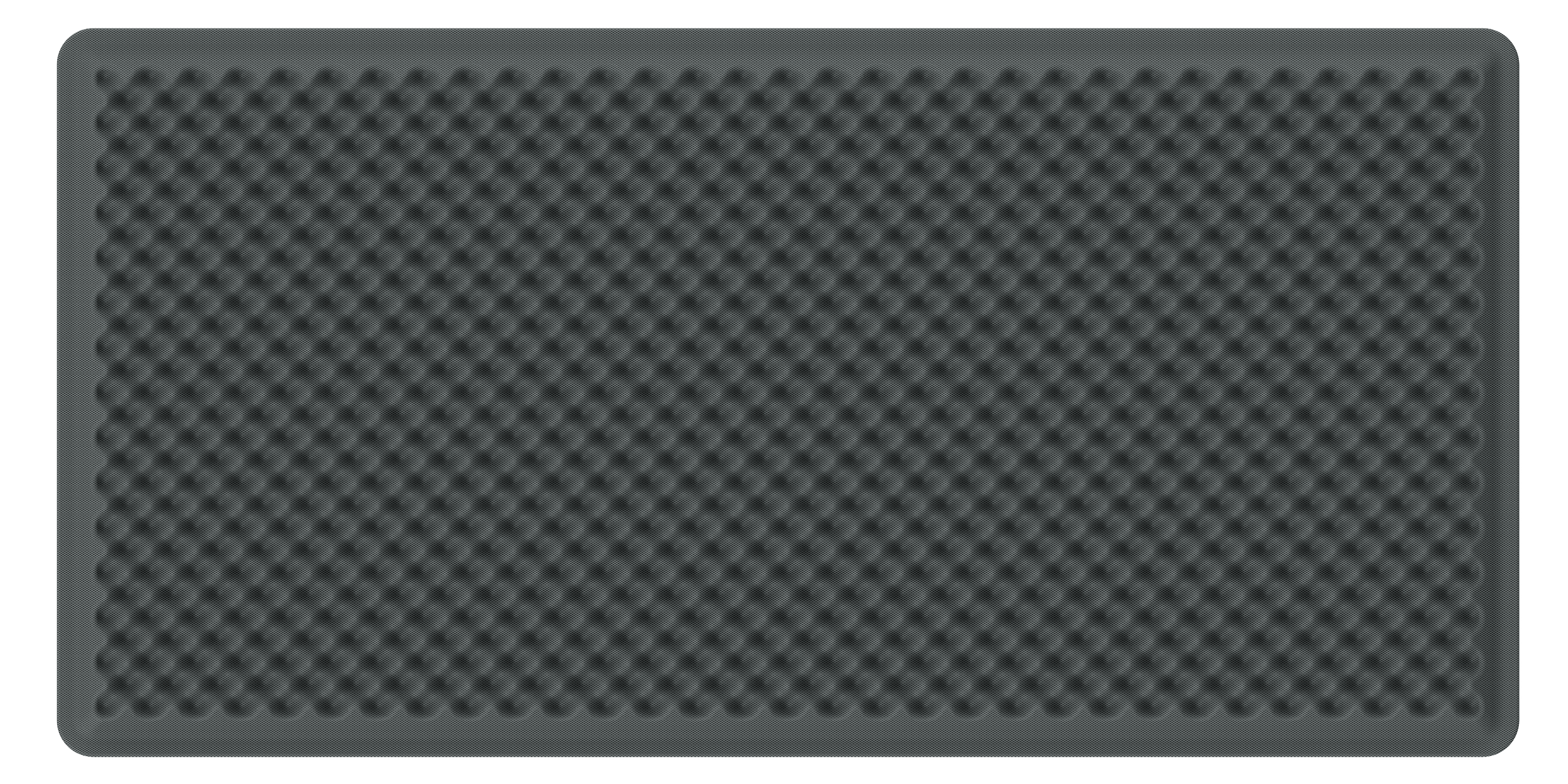 Artemide Akustikpanel Schallabsorbierend EGGBOARD WALL SUSP./CEILING ACOUSTIC PANEL 160x80 GREY