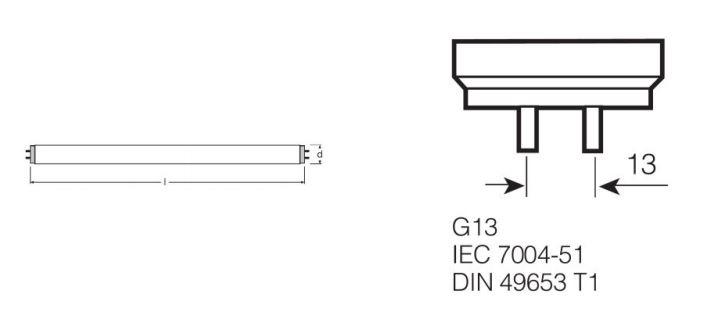 Osram T8-Leuchtstofflampe L 36W/865