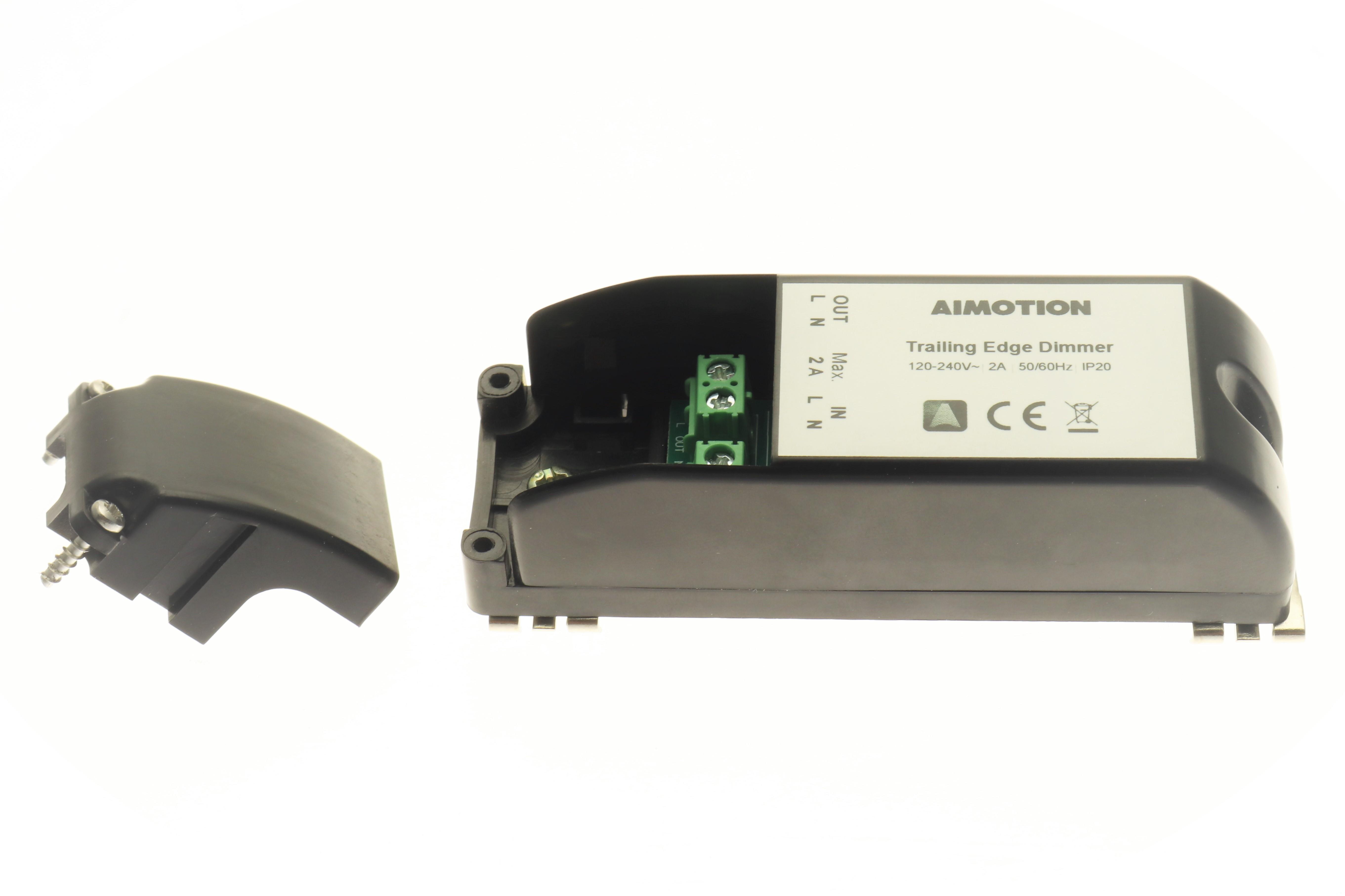 Aimotion 230V Phasenabschnitt Dimmer 460W, Montage im Schaltschrank / Hutschiene