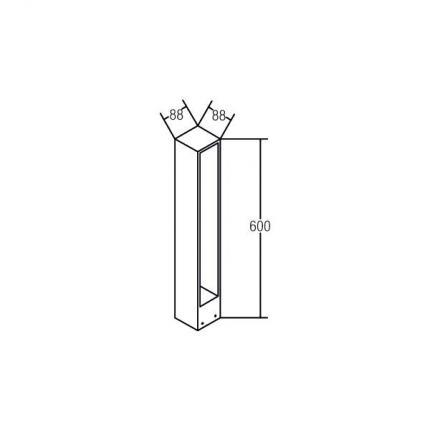 Brumberg LED bollard light TRIAN, IP54
