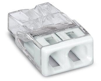 WAGO 2-COMPACT-Verbindungsdosenklemme max. 2,5 mm² transparent Deckel weiß