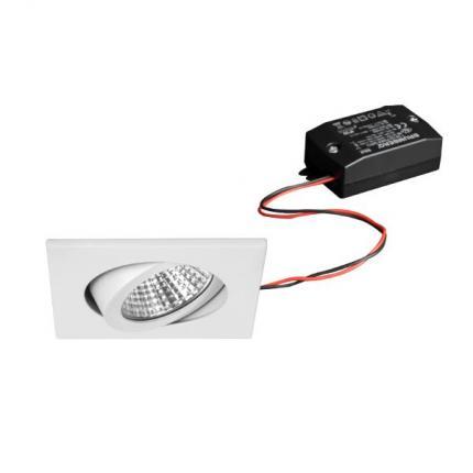 Brumberg LED-Einbaustrahler 7W 230V quadratisch weiß 38262073