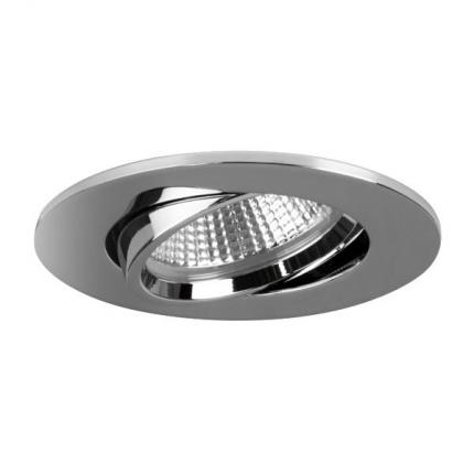 Brumberg LED recessed spotlight 350mA 5,5W dim2warm round chrome