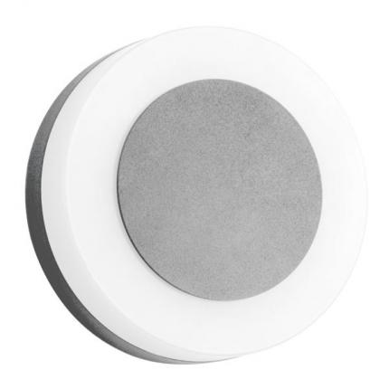 Brumberg LED wall surface mounted light 9W 230V structured silver IP54 10030693