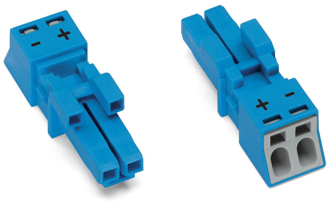 WAGO Buchse 2-polig Kodierung I 1,50 mm² blau
