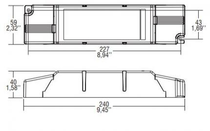 TCI LED-Driver SIRIO 150/300-1050 1-10V BILEVEL