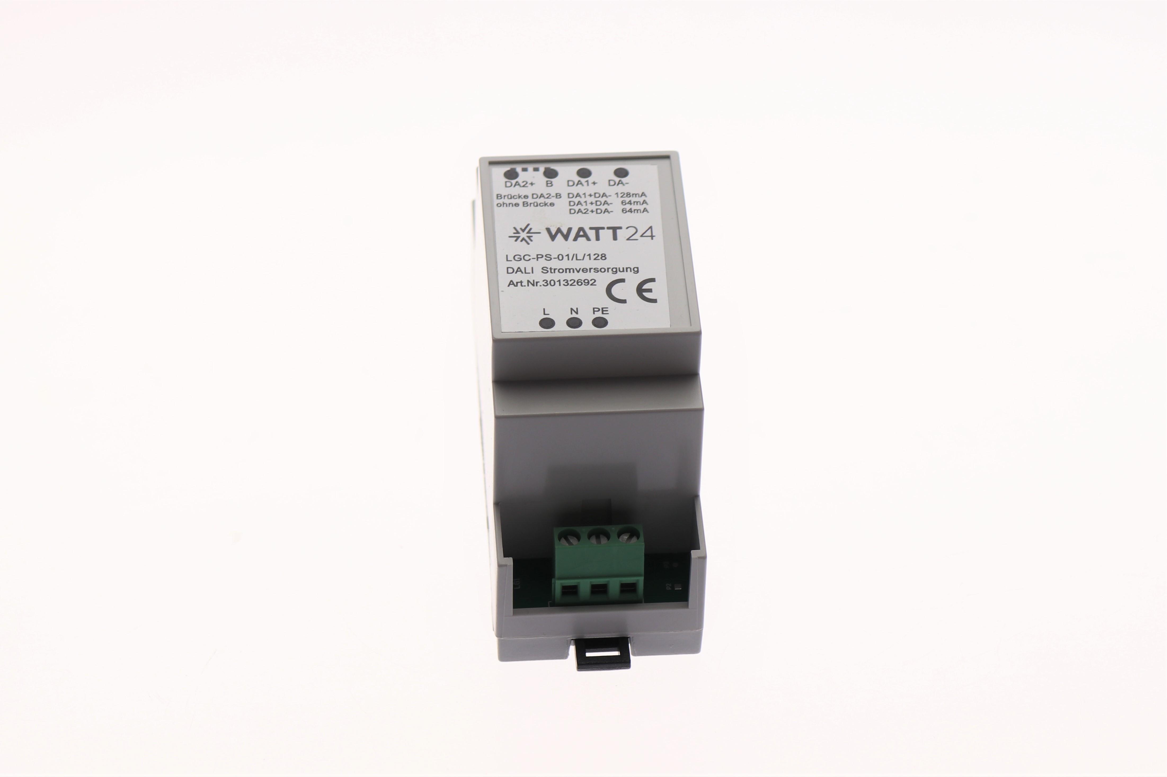 WATT24 DALI Stromversorgung PS 64mA /128mA f. Hutschiene LGS-PS01/L/128